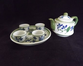 Vintage Six Piece Miniature Tea Set
