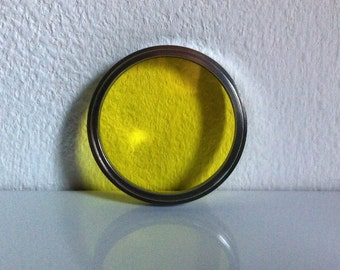 Vintage Kaiser Yellow Camera Filter 41 mm  3 x Made In Germany In Actina Box