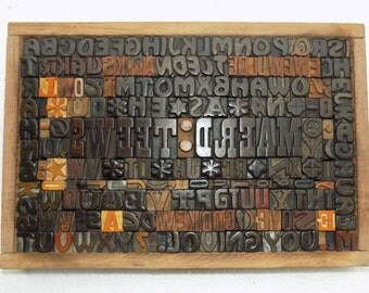 """50% Discount 190 Vintage Letterpress """"Sweet Dream"""" Wood Type All Letter in Mix size & mix fonts for decoration, craft and  other use.#Te-105"""