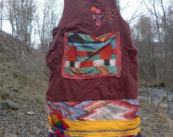 patchwork summer dress