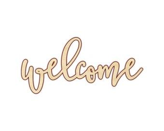 Welcome - Welcome Sign - Welcome Wood Sign - Welcome Decor - Wood Words - Wooden Words - 160217