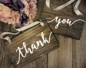 Rustic wedding sign, thank you sign, thank you wood sign, thank you photo prop, wedding photo prop, wood wedding sign, rustic wedding decor