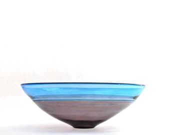 Hand blown glass incalmo bowl