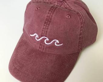 Three Waves Baseball Cap - Burgundy