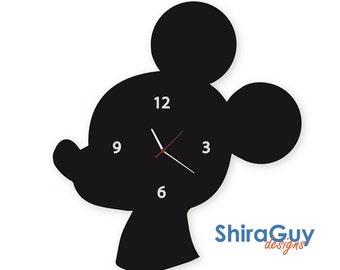 Mickey Mouse clock, Kids wooden Wall Clock, Room Decor Original Gift, Modern wall clock, Disney clock