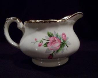 Porcelain Pitcher, Creamer, Marked Grindley England, Cream Petal Pattern