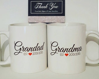 Established Mug - Personalised - Handmade Gift -  Grandparents - Parents - Printed Mug - 11oz Mug - Date - Family - Gift - mothers day
