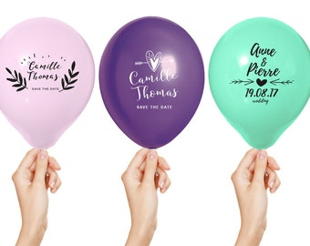 100 balloons save the date custom