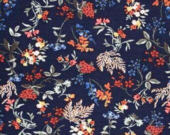 SALE Pressed Floral on Navy Bottoms Leggings, bloomers, lounge or harem leggings, regular shorts or harem shorts, baby leggings