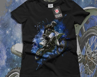 Space Motorcycle Sky Jumper Women Black White Grey Red Royal Blue T-shirt S-2XL NEW | Wellcoda *y2558