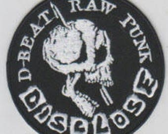 Disclose punk hardcore embroidered patch - d-beat raw punk