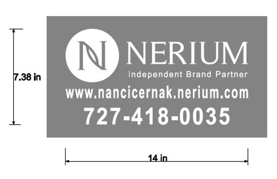 Nerium Independent Brand Partner Car Decal