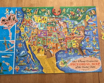 Usa Puzzle Etsy - Us map license plate puzzle