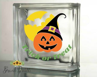 Grateful Thankful And Blessed Vinyl Decal Glass Block - Halloween vinyl decals for glass blocks
