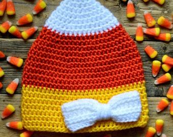 Newborn Candy Corn Hat, Baby Candy Corn Hat, Candy Corn Hat, Newborn Photo Prop, Newborn Halloween Hat, Baby Halloween Outfit, Candy Corn