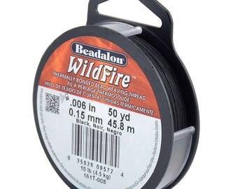 Beadalon Wildfire Beading Thread Black .006 in (.15 mm), 50 yd (45 meters)