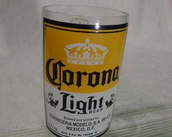 Corona Light Beer Bottle Drinking Glass - Planter