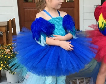 Blue macaw, parrot costume, parrot wings, blue wings, costume wings, parrot headband, leg feathers, blue macaw wings, rio, birds of rio
