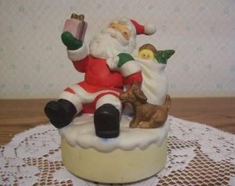 Musical Rotating Santa and Puppy, Japan
