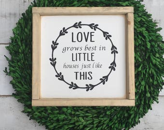 Love grows best in little goises like this/sign/ wood sign/ love sign/ home decor/ country decor/ farmhouse style/