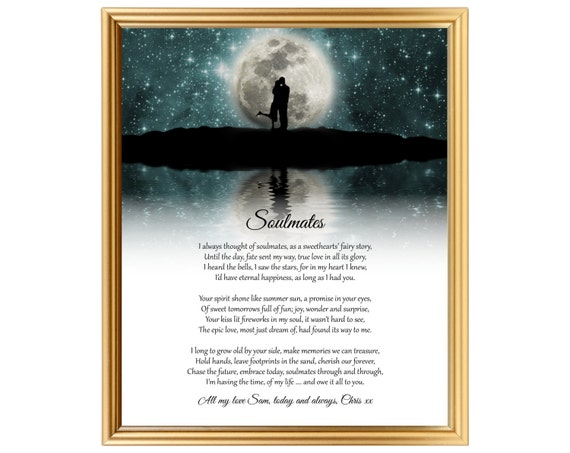 Gift Ideas For 14th Wedding Anniversary: Romantic Wedding Anniversary Gifts For Soulmates Poem For Our