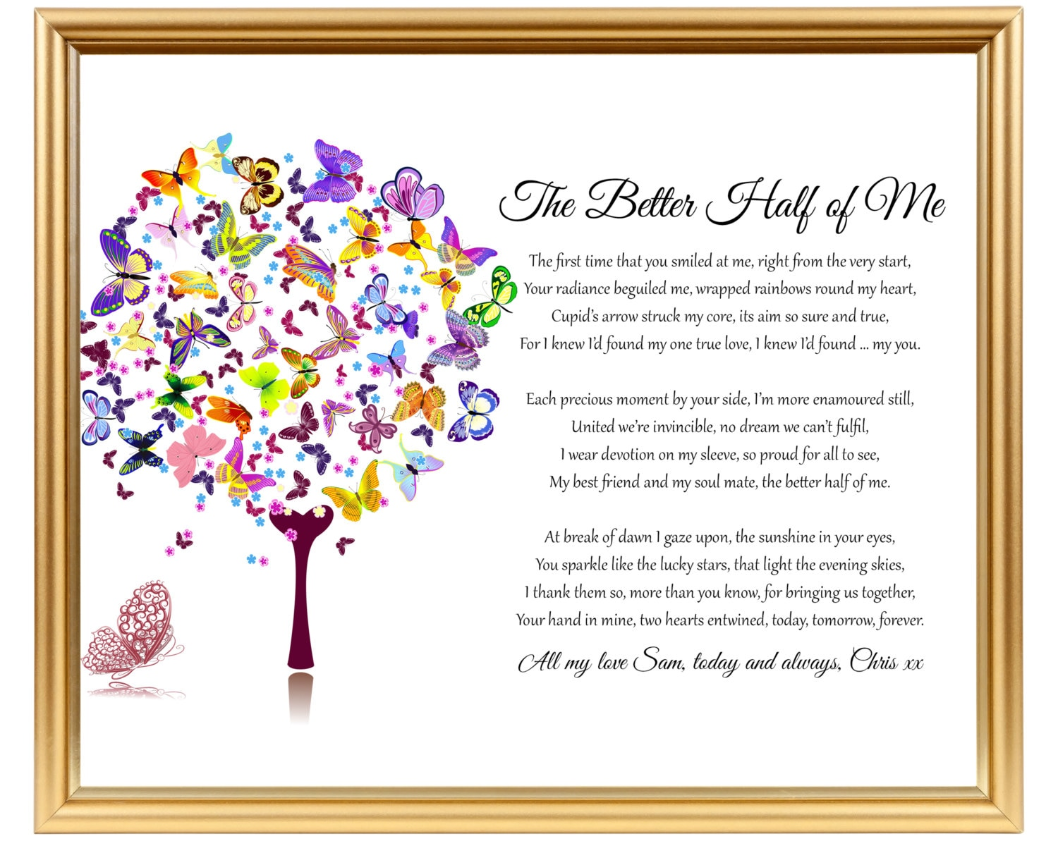 20th Wedding Anniversary Gift For Wife: Gift For Wedding Anniversary Poem For Him Her For Wife For