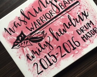 Watercolor Splatter Hand Lettered Sign | Senior Gift | Customizable Calligraphy Sign | Graduation Gift