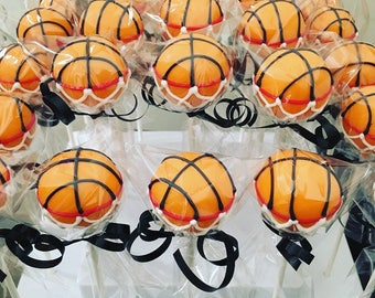 All Star Sports Cake Pops Basketball Cake Pops