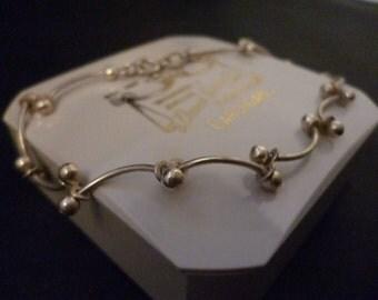 A lovely unique vintage bracelet - 925 - sterling silver - 7 inch