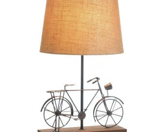 Whimsical Old-Fashioned Bicycle Table Lamp