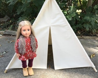 Your choice of colors American Girl Doll-sized Tepee