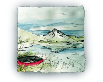 MOUNT ERRIGAL - near Gweedore Co Donegal iconic mountain Ireland