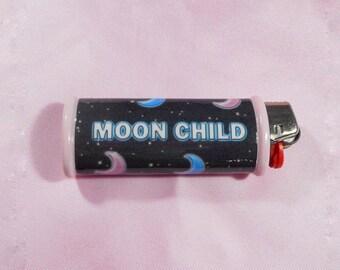 MOON CHILD Bic Lighter Case