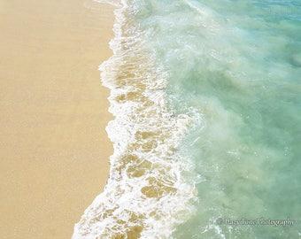 Beach Photo, Photography Print, Aerial Beach Print, Water Picture, Coastal Wall Art Surf Art Beach Photograph Ocean Photography 8 x 10 Print