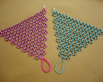 Turquoise -balck-silver pink-purple-silver color hand bracelet, boho slave bracelet, hand-ring bracelet, beaded slave hand bracelet