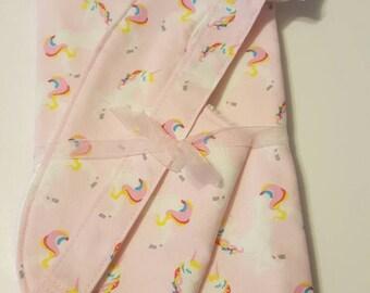 Adorable Unicorn Fabric Bib, Burp Cloth or Pacifier Clip