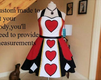 Queen of Hearts Dress.MADE TO MEASURE!