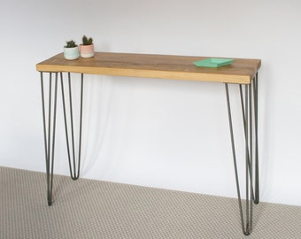 Liliana Console Table | Hairpin legs | Industrial | Mid Century Modern Style | Reclaimed Wood | Eco Friendly