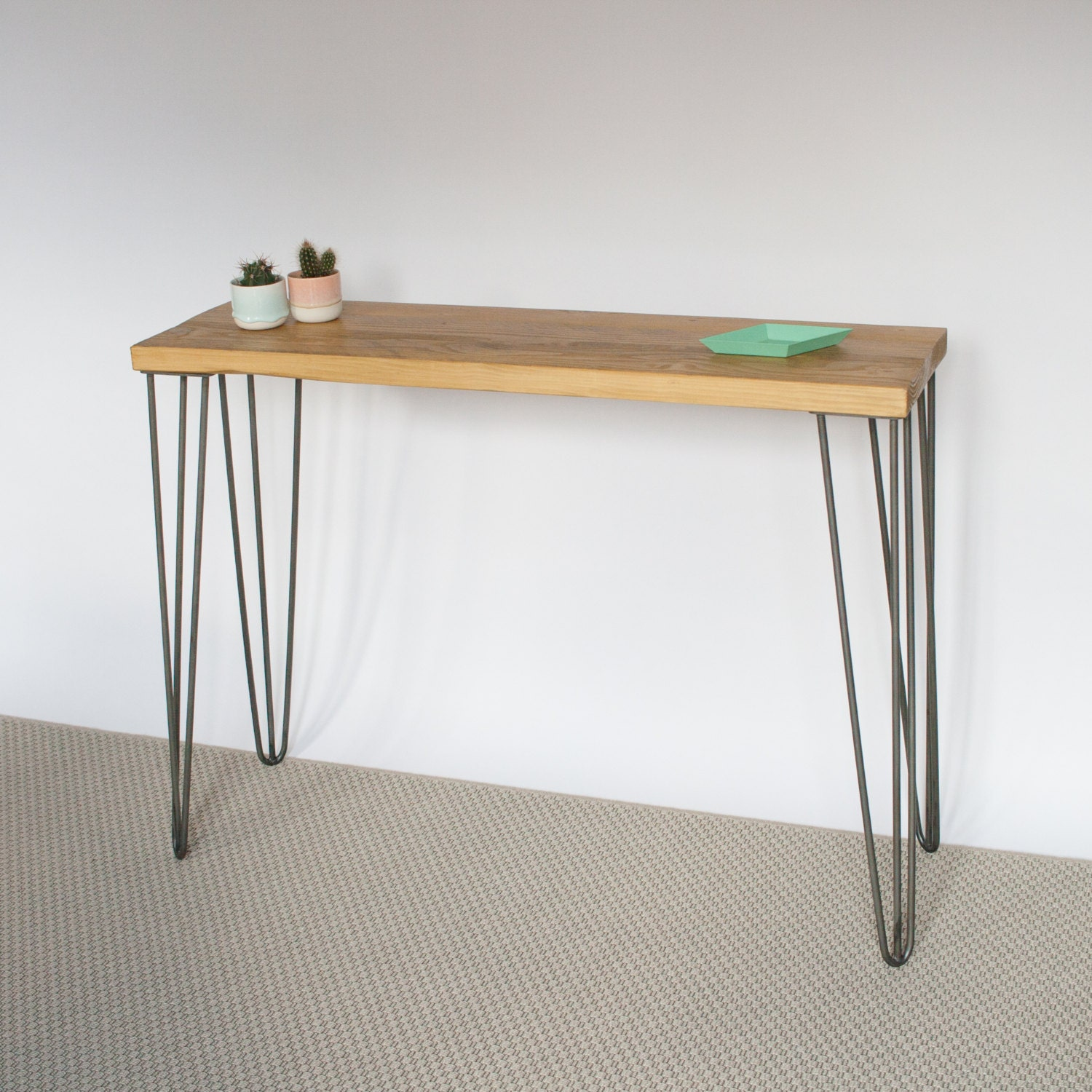 Foyer Table Hairpin Legs : Liliana console table hairpin legs industrial mid