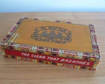 Vintage El Roi-Tan Cigar Box - Great Piece of American Tobacciana.