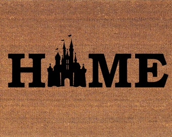 "Cinderella's Castle Disney Door Mat - Coir Doormat Rug - 2' x 2' 11"" (24 Inches x 35 Inches) - Welcome Mat - Housewarming Gift - New Home"