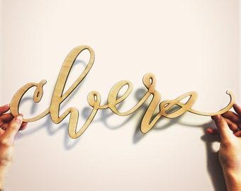 Cheers Wall Hanging-Hawaii Calligraphy