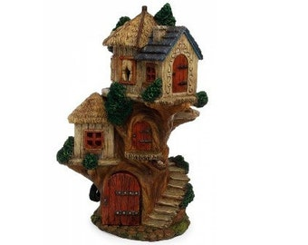 Fairy Garden  - Tri-Level Tree House - Miniature