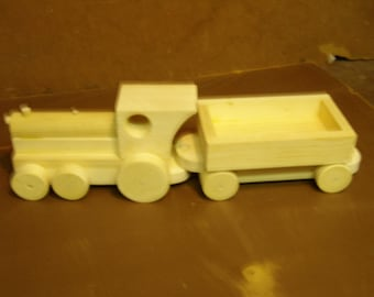 Toy hamd crafted  train locamotive & coal car   Part No. 1701-0