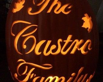 """12"""" Family Name Pumpkin"""