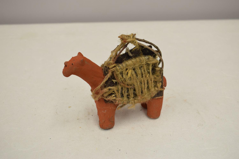 Kenyan Handmade Baskets : Camel african red clay statue samburu kenya handmade