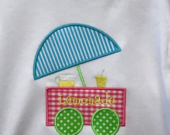 Cute Lemonade Cart appliqué !