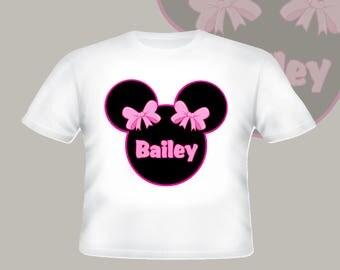 Disney Minnie Mouse Shirt Personalized Shirt Custom Tshirt  p11