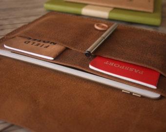 Kindle Paperwhite Case, Nook Glowlight Plus Sleeve, Kobo Covers, Hand Stitched Leather E-Reader Portfolio, Kobo Glo Covers Case