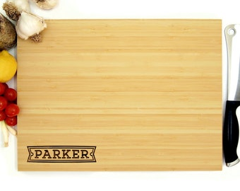 Custom Cutting Board, Personalized Cutting Board, Corner Design, Family Name, Last Name, Cutting Board, Kitchen Decor, Home Decor, Wood Sign